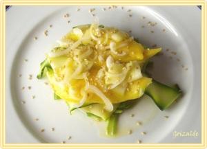 Ensalada de frutas y verduras al vapor