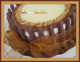 tarta 3 chocolates Alicia Malero