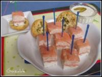 milhojas salmon ahumado