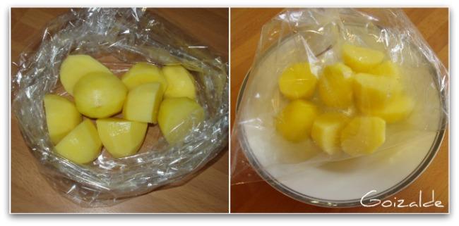 Patatas para guarnici n express cocinando con goizalde - Tiempo para cocer patatas ...