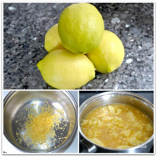 Foto abajo dcha: la mezcla en el cazo antes de derretirse la mantequilla