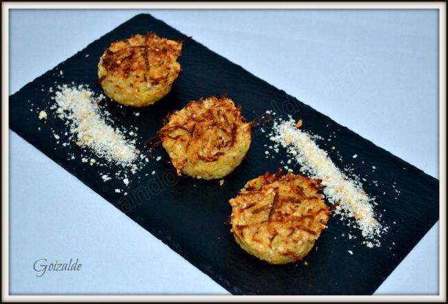 muffins de patata y quesoo