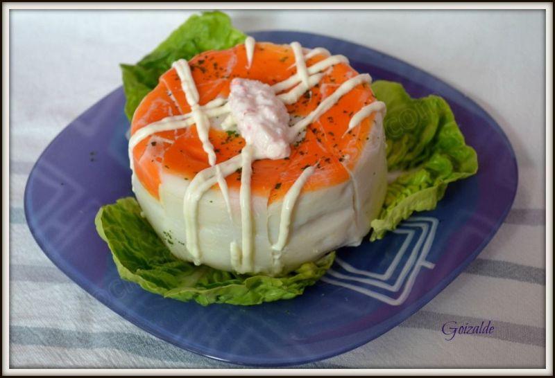 pastel de gulas y surimi
